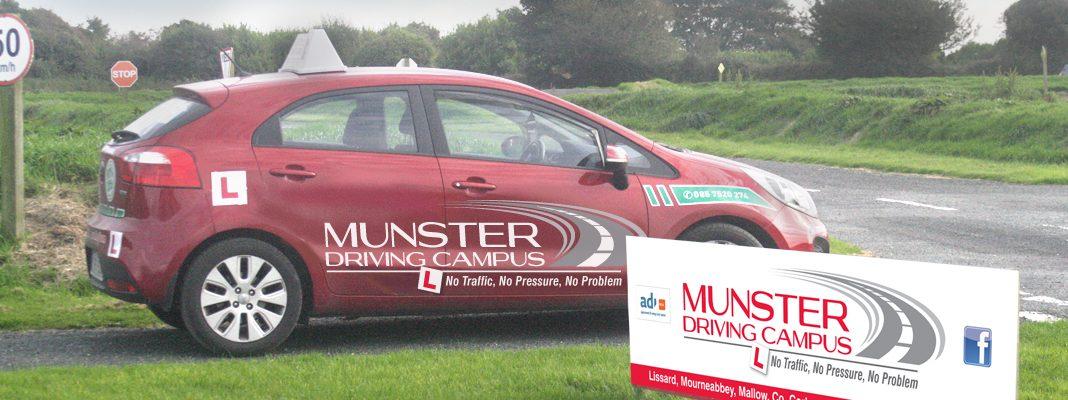 Munster Driving Campus signage & car