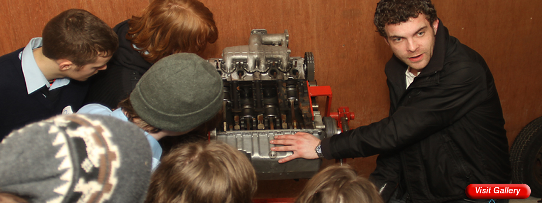 Explaining the workings of a car engine