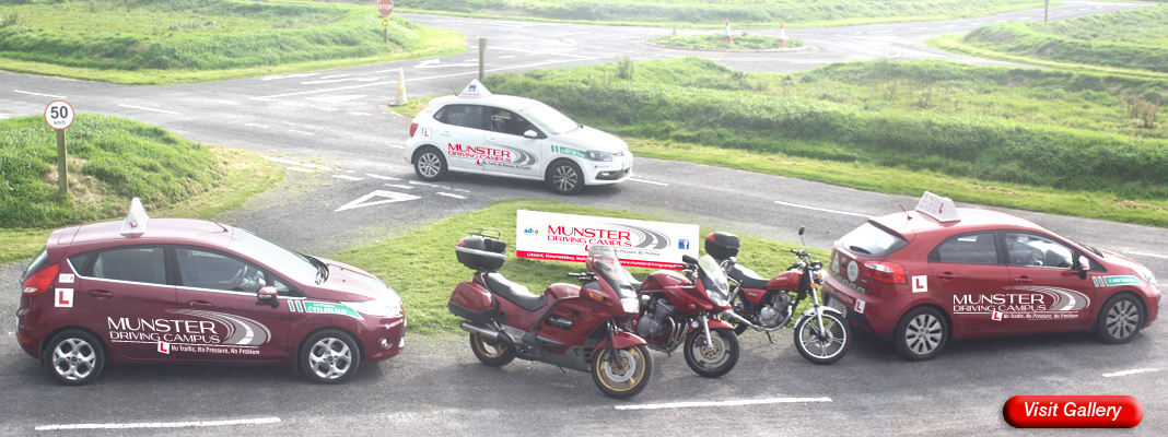 Munster Driving Campus cars & motorbikes