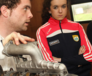 Munster Driving Campus students learning about car engines